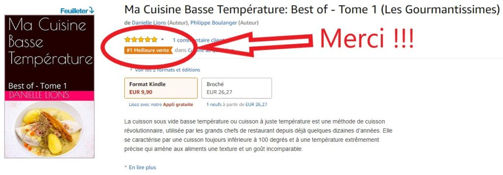 """Mon livre """" Ma cuisine Basse température, Best of-tome 1"""" est paru!"""