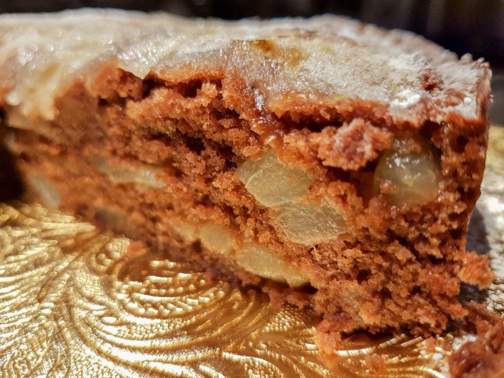 Gâteau moelleux poires et chocolat