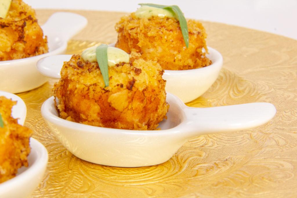 Cromequis de crevette, mayonnaise estragon