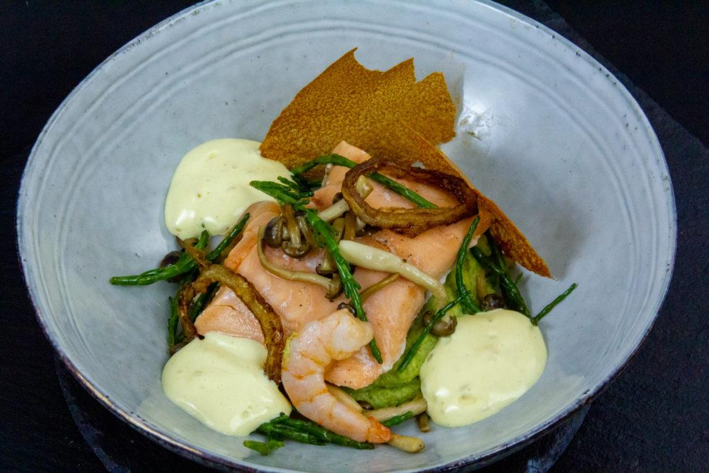 Douceur de saumon et crevette