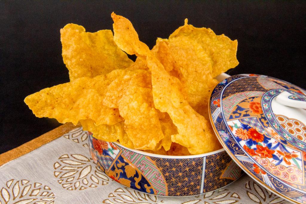 Krupuks au riz ou chips soufflées