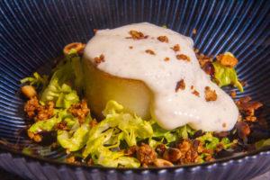 Espuma au Maroilles et ses petites pommes de terre