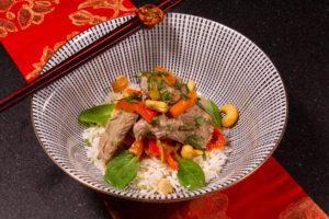 Bœuf asiatique et ses petits légumes (recette Thermomix)