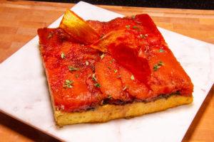 Tatin de tomate et polenta