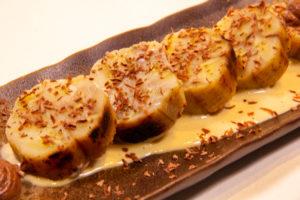 Roulé de banane, gingembre et chocolat (recette basse température)