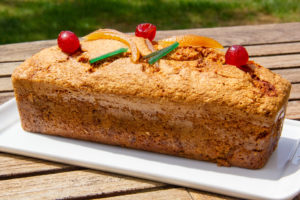 Cake aux fruits confits (recette Thermomix)