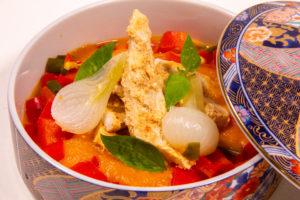 Émincés de volaille au curry rouge (recette Thermomix)
