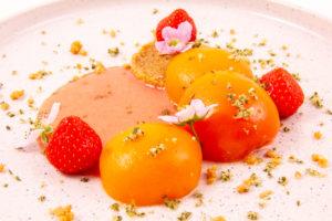 Abricots, fraises et romarin (recette basse température)